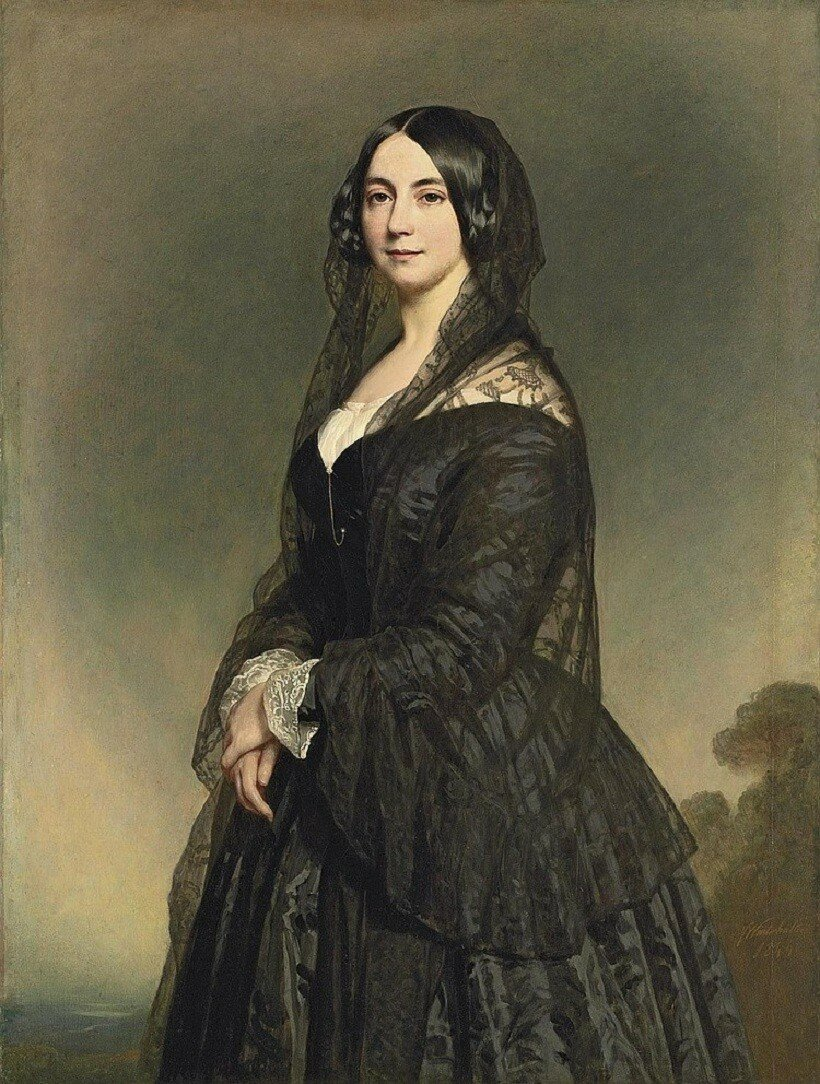 Franz Xaver Winterhalter (Mezenschwand 1805-1873 Frankfurt am Main) Portrait of a lady