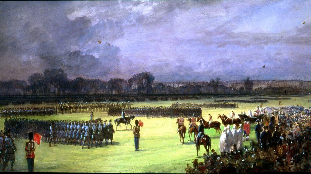 Обзор добровольцев в Гайд-парке, 23 июня 1860