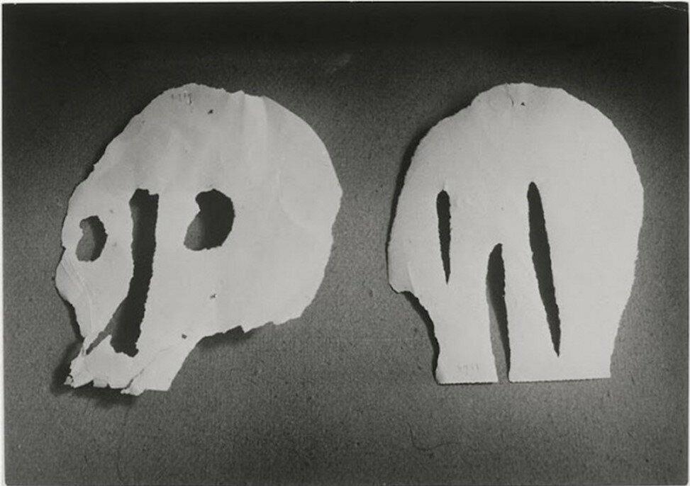 1943. Два черепа (бумага) Пикассо