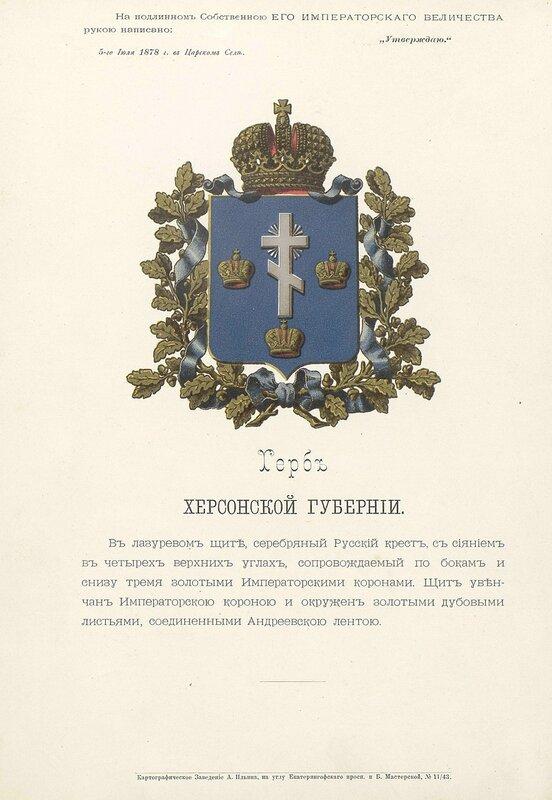 Херсонская губерния 1880 год
