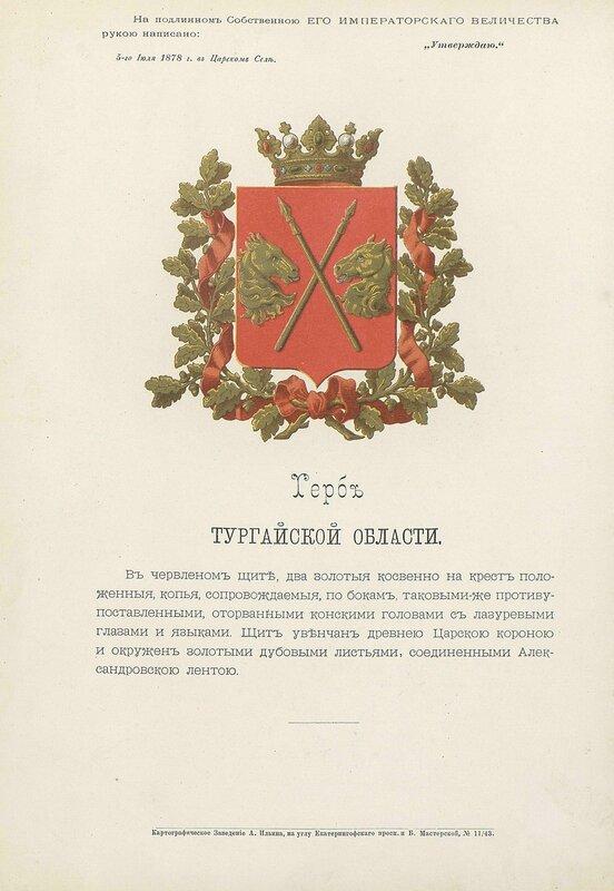 Тургайская область 1880 год