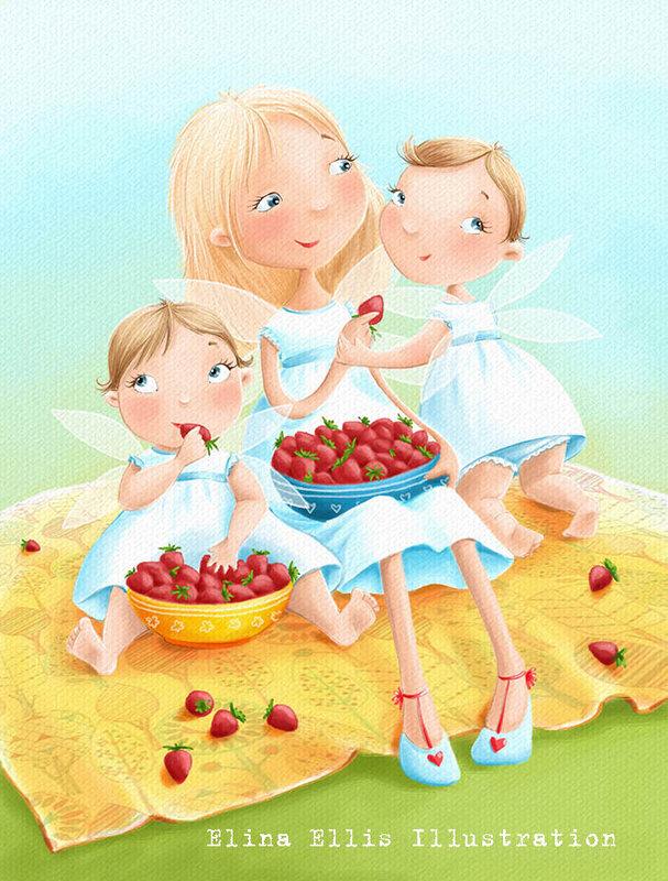 Рисунок рыжая девочка