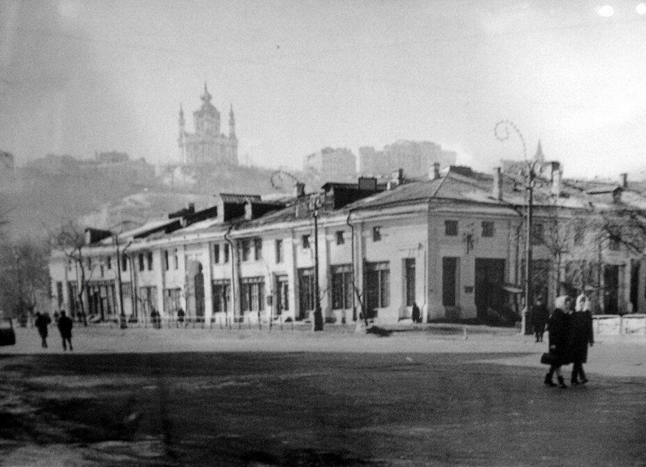 1950-е. Красная площадь (ныне Контрактовая площадь), Гостиный двор