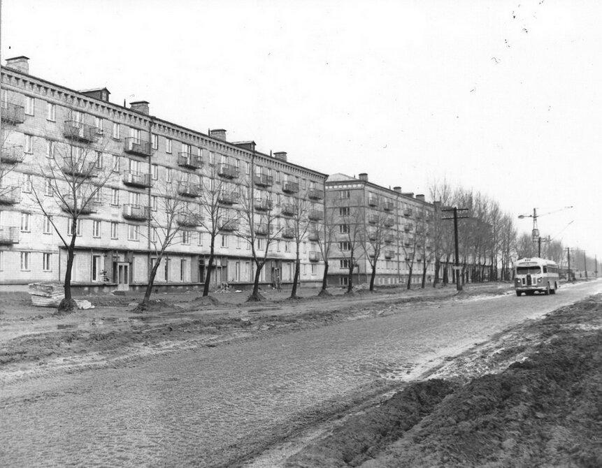1961.01. Проспект Чубаря (сейчас проспект Отрадный)