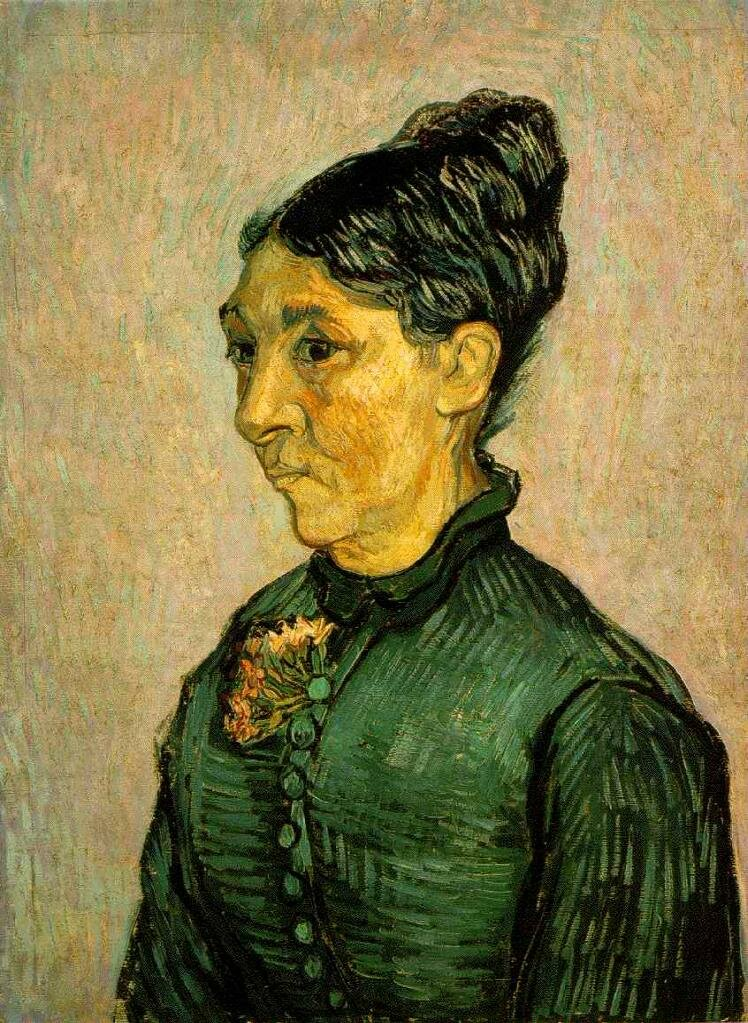 Portrait of Madame Trabuc, 1889, by Van Gogh (1853-1890)_ The Hermitage, St. Petersburg, Russia (F631)