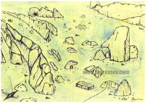 Цветной Каньон - Серый каньон. Глубина от 12м до 27м