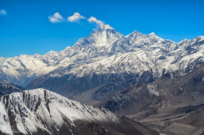 вид на горный хребет, гималаи, непал