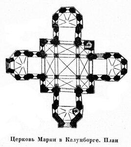 Церковь Марии в Калунборге, план