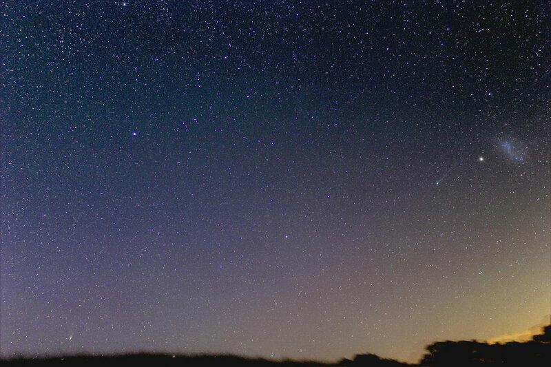 Комета Comet PANSTARRS C 2011 L4 Lemmon C 2012 F6 2013 Джастин Тилбрук Пенвортам Южная Австралия Justin Tilbrook Penwortham South Australia