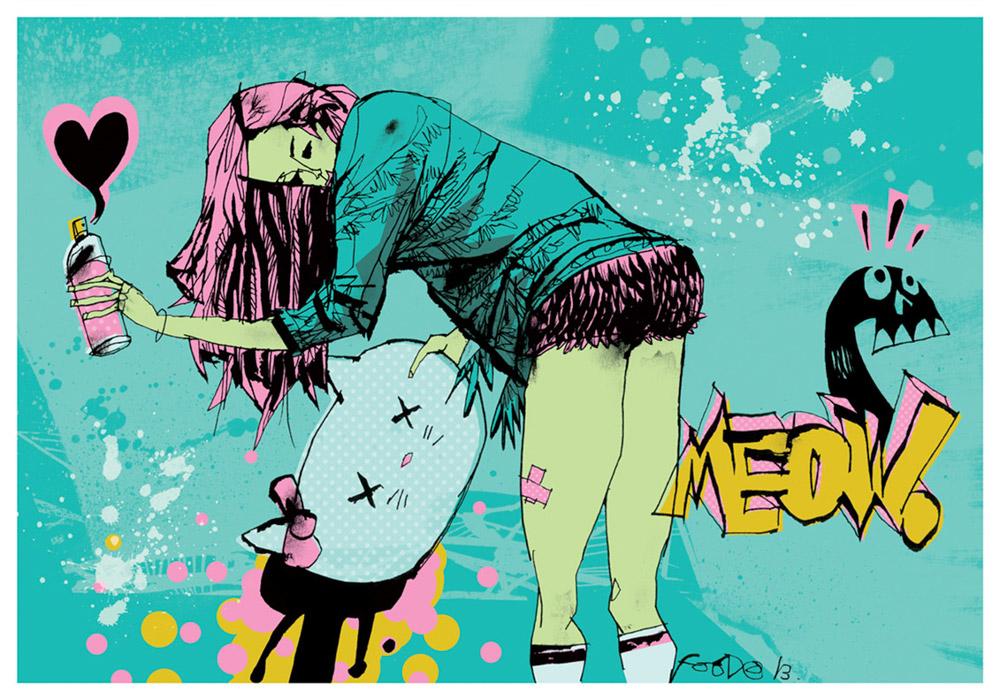 Иллюстрации дерзких девушек