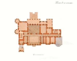 Усадебный дом в Степановском-Павлищеве.План 2-ого этажа
