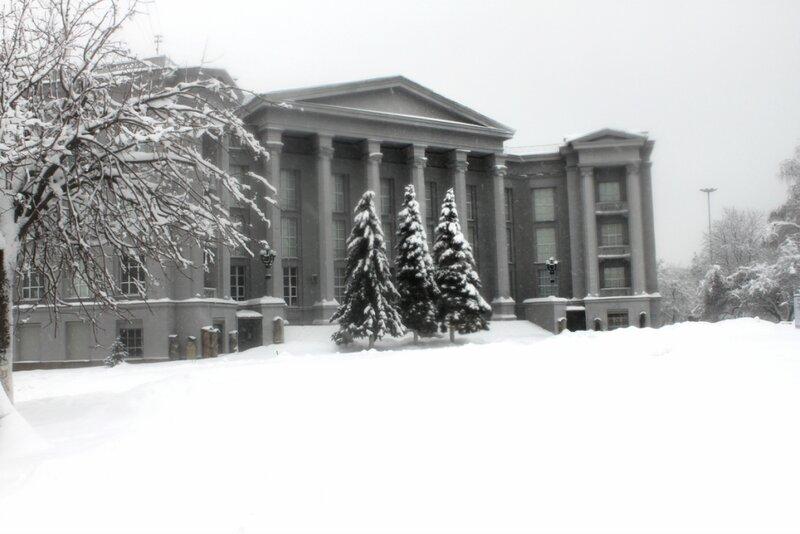Исторический музей зимой