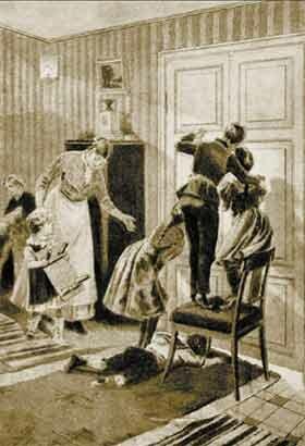 В ожидании ёлки. Рисунок Г. Бролинга. Конец ХIХ века.