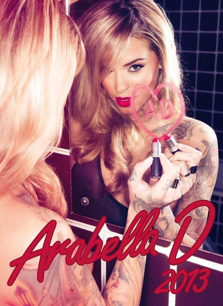 Arabella Drummond / тату- и эротическая  модель Арабелла Драммонд - календарь на 2013 год