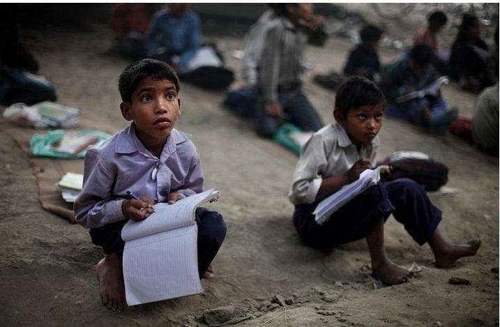 Школа для бедных в Дели