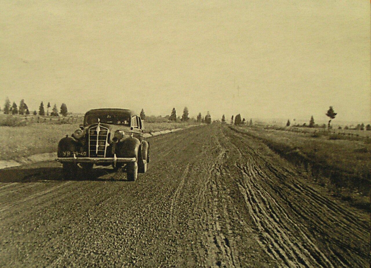Приёмка дорожных работ правительственной комиссией.