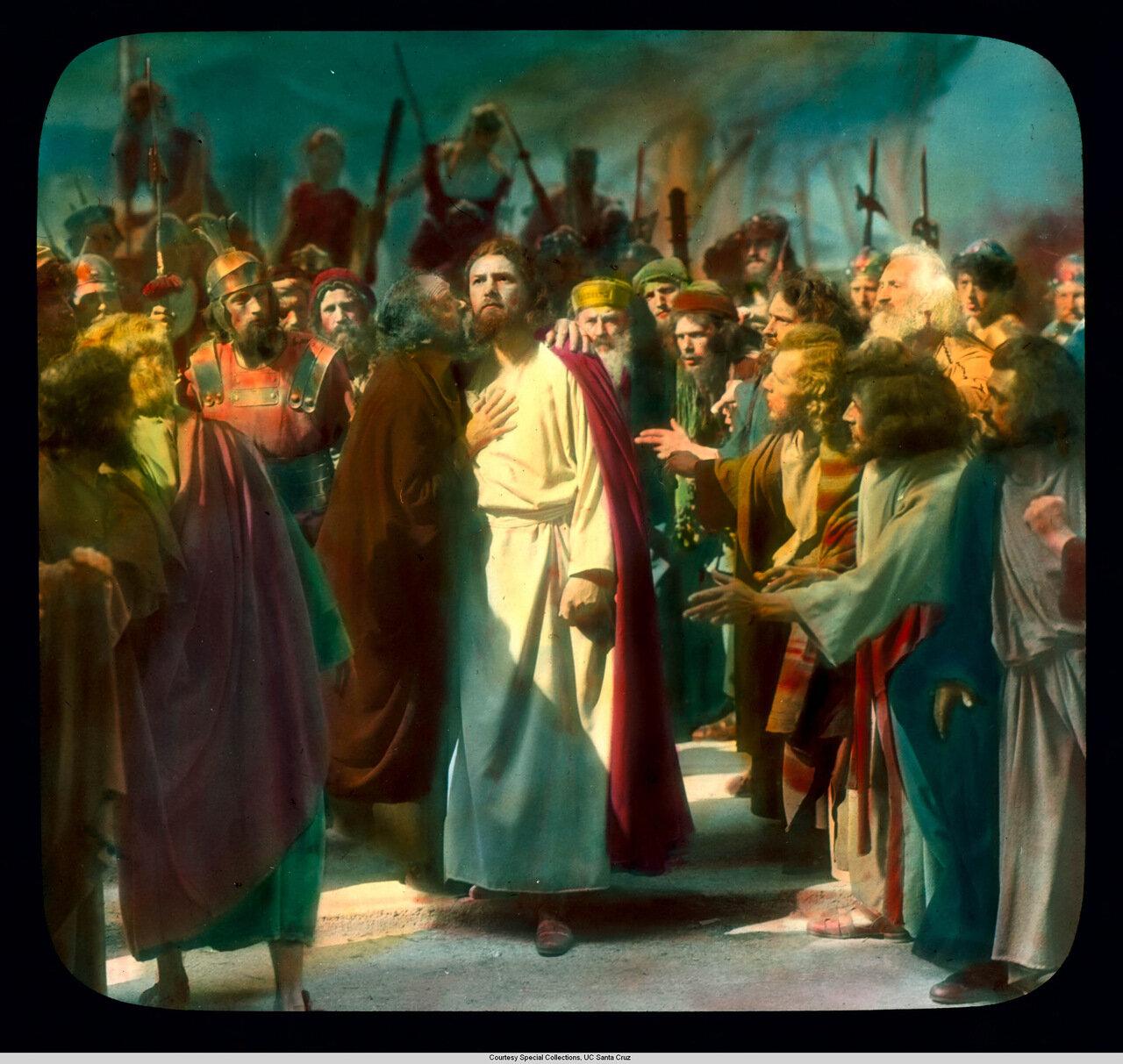 Обераммергау. Страсти Христовы. Поцелуй Иуды