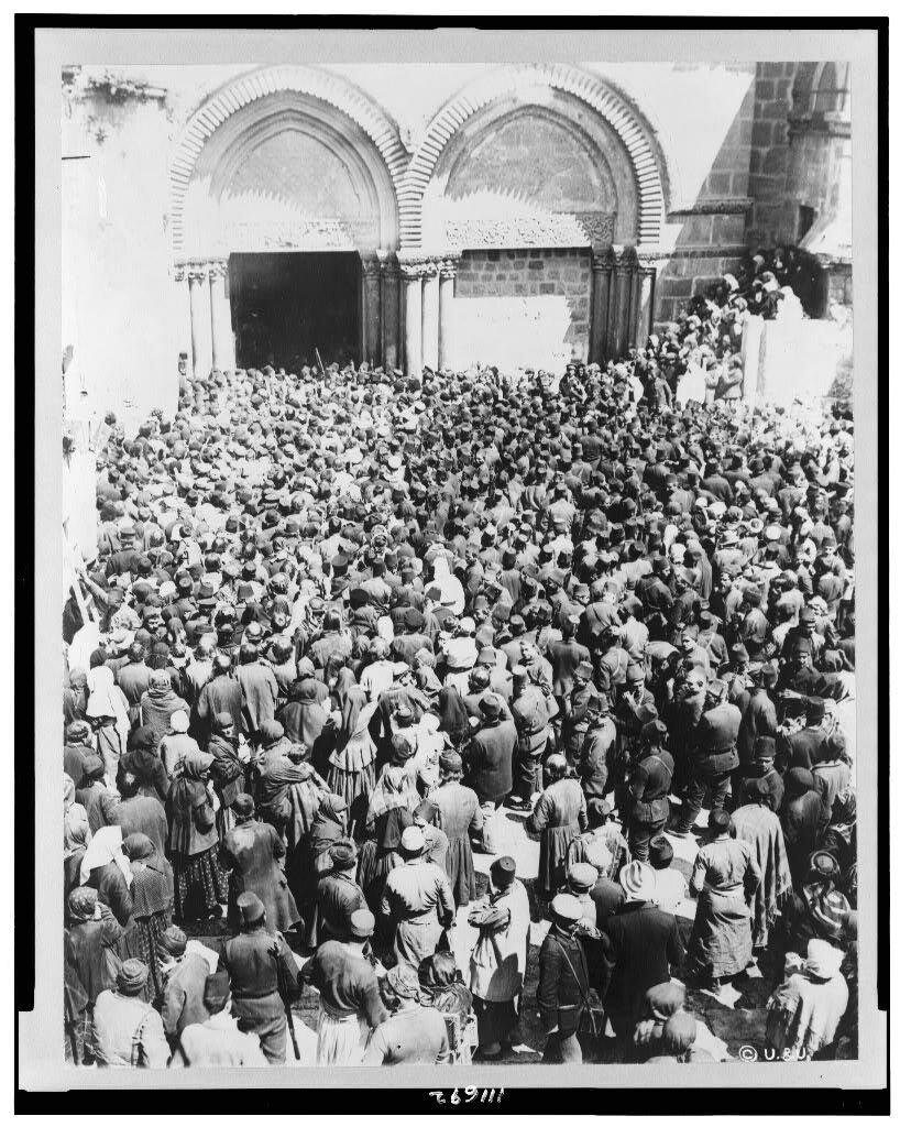Иерусалим пасхальный и Храм Гроба Господня. Фото 1855-1941 годов