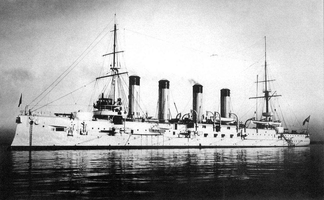 Броненосный крейсер Баян в Тулоне, начало 1903 года