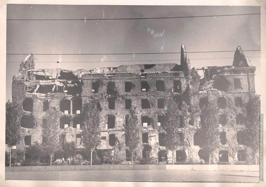 Волгоград. Мельница Гергардта или Мельница Грудинина — разрушенное здание мельницы, ставшее памятником Сталинградской битвы фото 1965 года