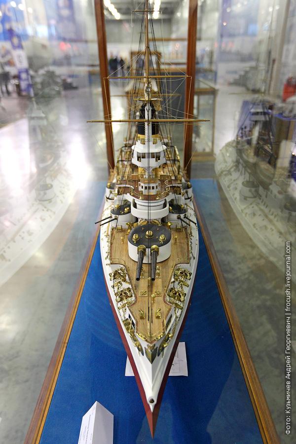 Броненосец «Цесаревич» историческая масштабная модель