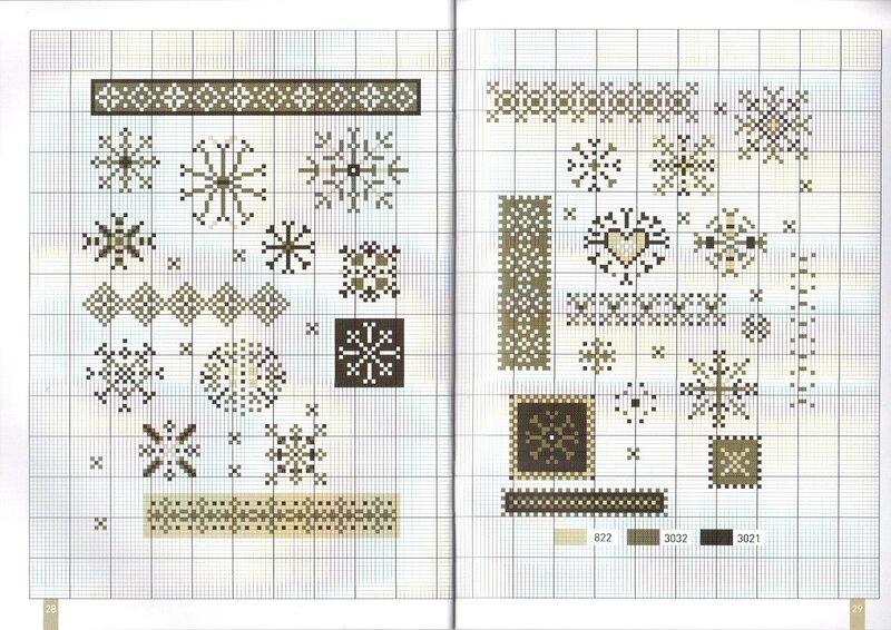 Схемы вышивки крестом миниатюры монохром 59