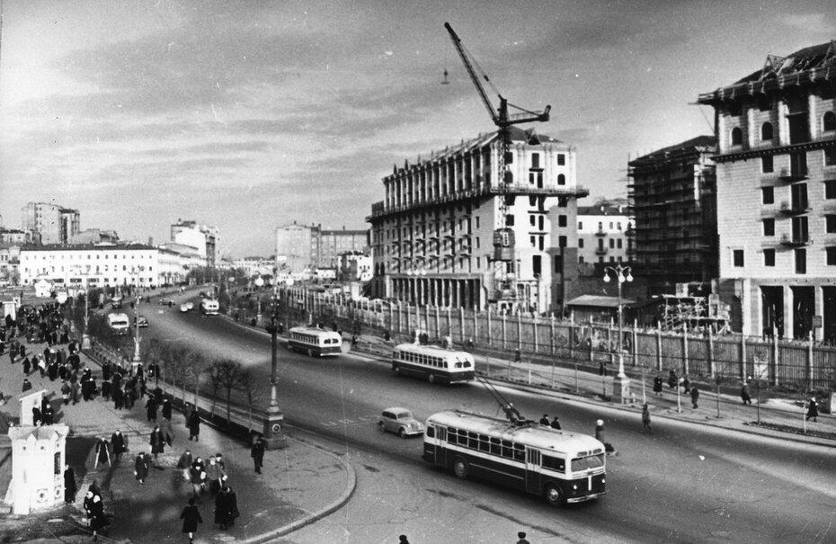 1950.12. Панорама части Хрещатика. Фото: Барабанова Б.О.
