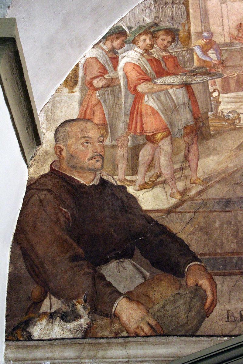 Bernardino_poccetti,_nozze_di_cana,_1604,_04_autoritratto_con_gatto.JPG