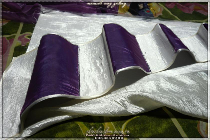 пошив штор своими руками, жёсткий ламбрекен