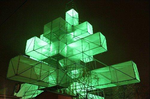 Электронная елка в Брюсселе