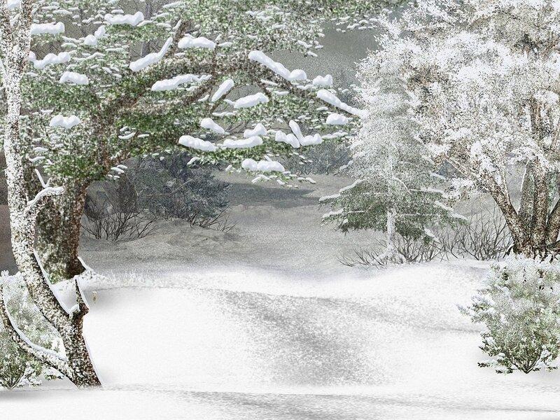 Картинка зимний лес на прозрачном фоне