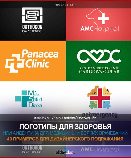 Айдентика. Правильные логотипы для здоровья и медицины. 40 классных примеров.