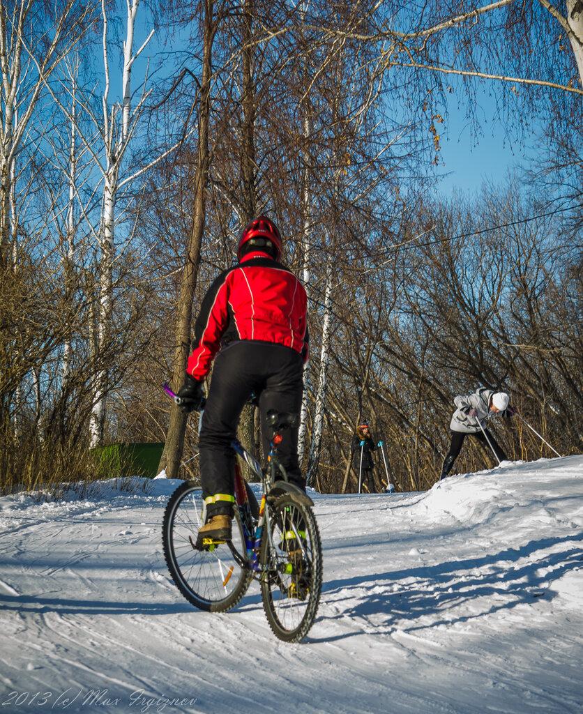 Кто круче, лыжник или велосепедист?