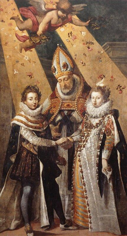 Le Mariage de Louis XIII, Roi de France et de Navarre, et d'Anne d'Autriche de Jean Chalette (1581-1644), commandée par les Capitouls de 1614-1615