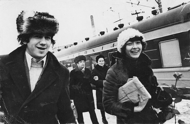 С.Садальский и А.Вертинская на гастролях в Таллинне. 1970-е.