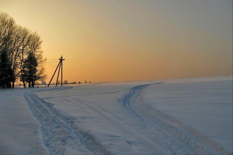 Поле у деревни Голенищево