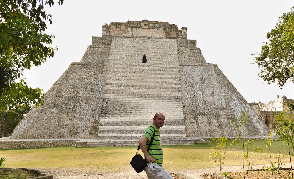 Пирамида Волшебника в городе Uxmal в Мексике. Отзыв о самостоятельном путешествии за рулем арендованного автомобиля в ноябре 2015