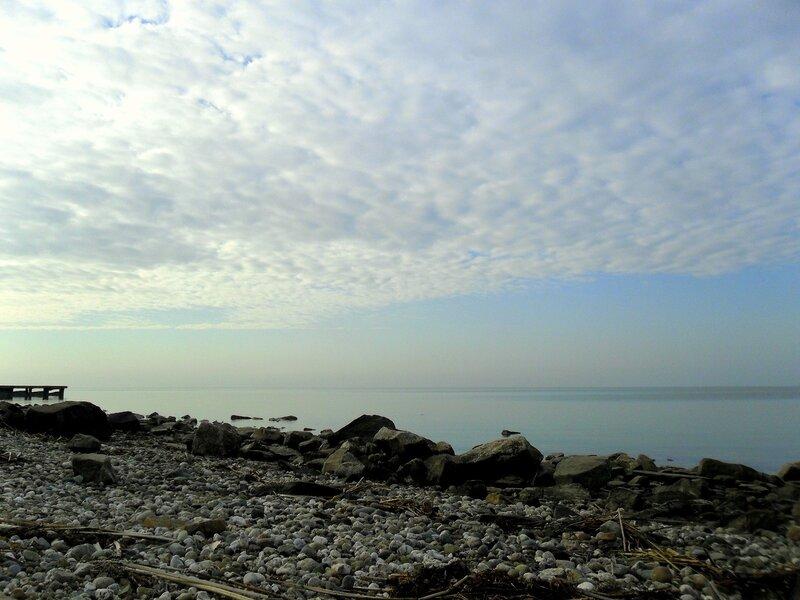 Азовский берег в декабрьский день