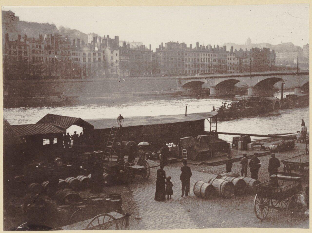 1870. Вид на берег Соны