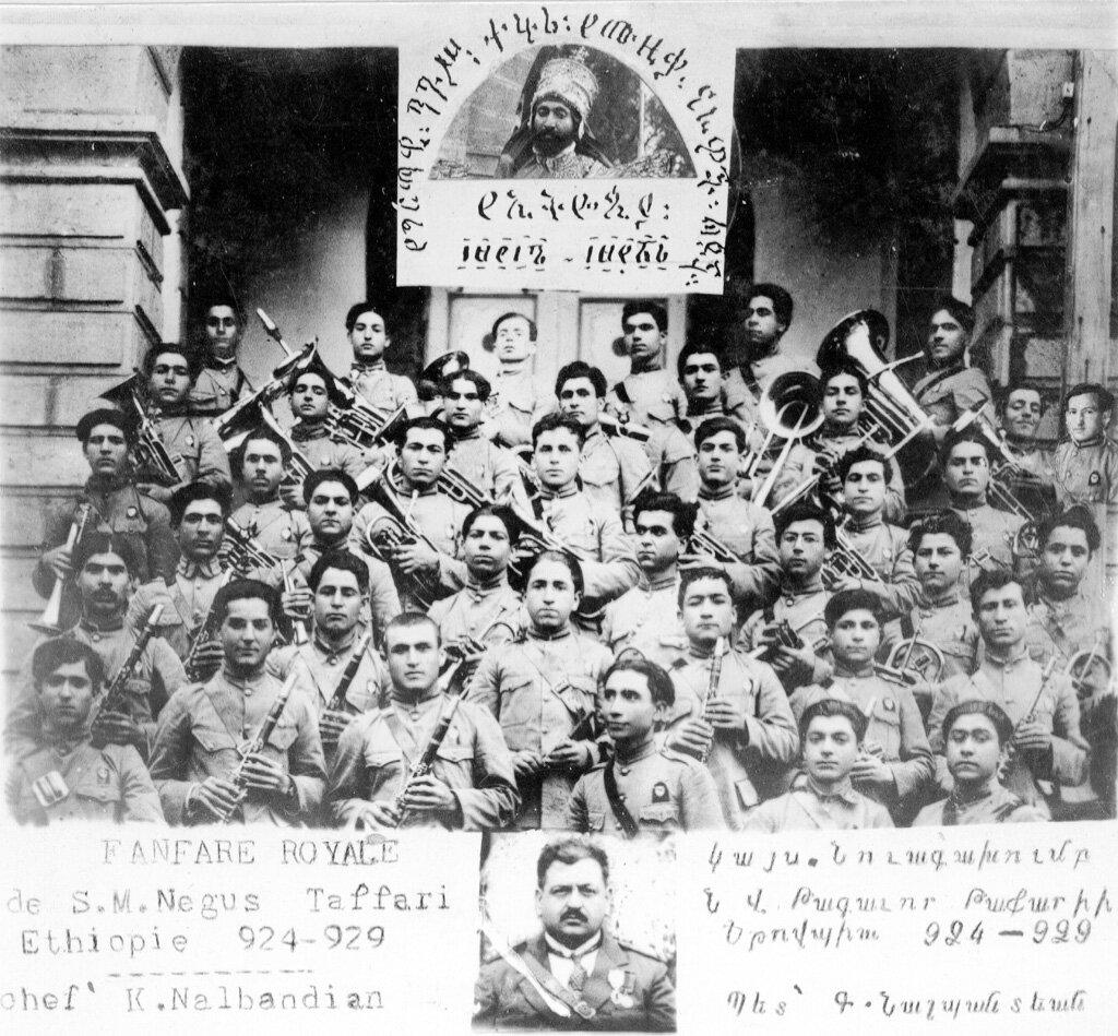 Члены духового оркестра детского дома в Иерусалиме