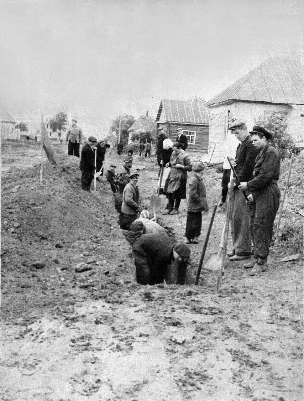 1950-е. Строительство водопровода в Новосиле