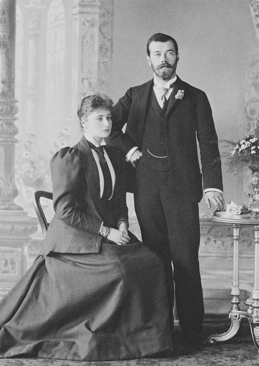 Цесаревич Николай Александрович и принцесса Алиса Гессенская, 1894 г.