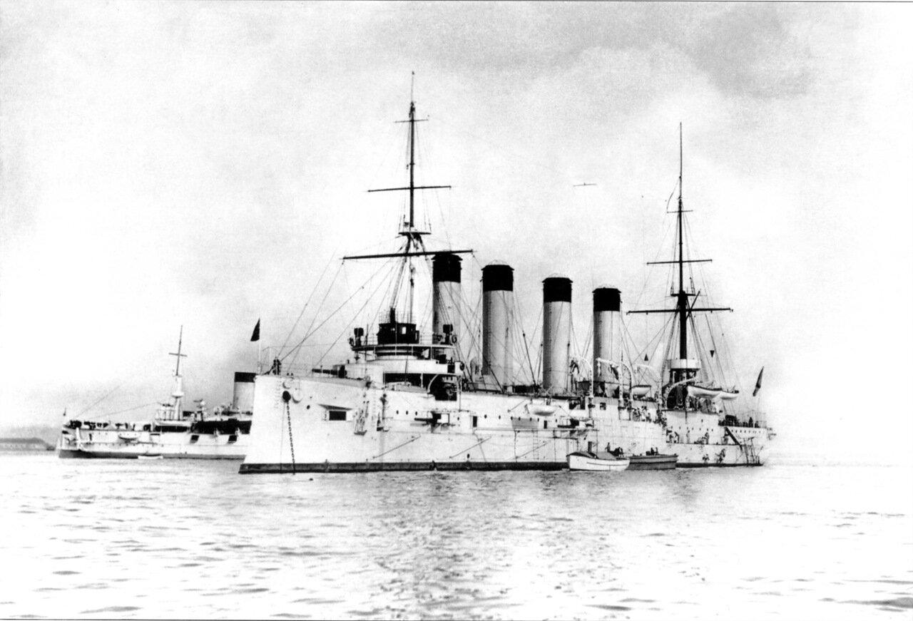 Броненосный крейсер Баян на Большом Кронштадтском рейде, 6 мая 1903 года
