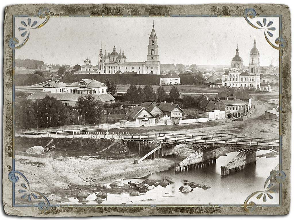 Вид центральной части города с Ильинской горы, 1880 год
