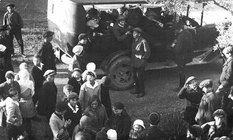 Children leaving the Artek camp, Gurzuf, 1920's
