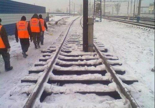 Суровые ж/д в Челябинске