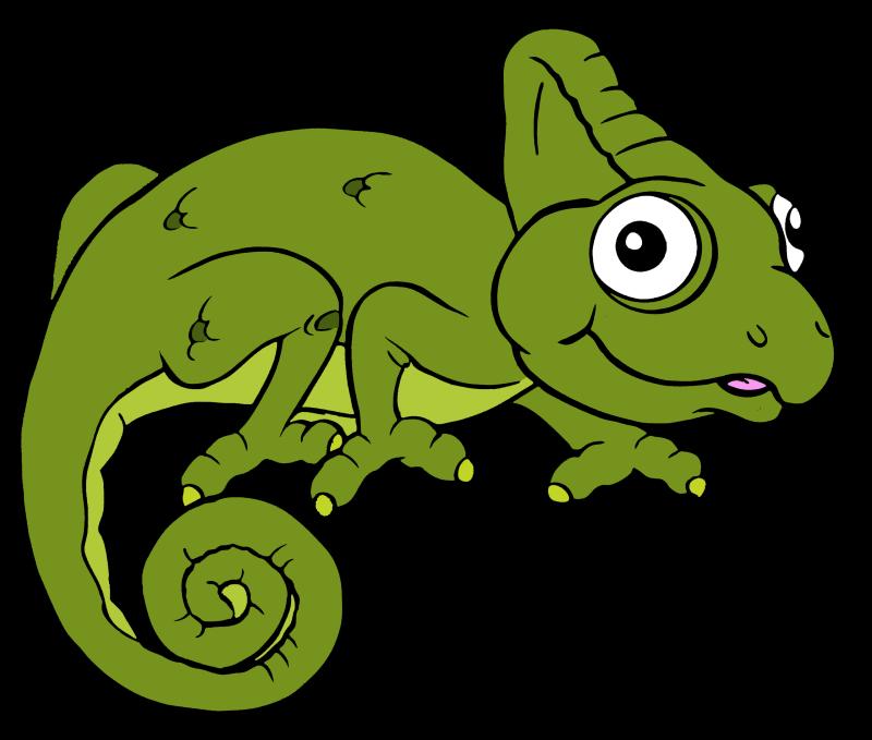 Ящерица рисованная картинка