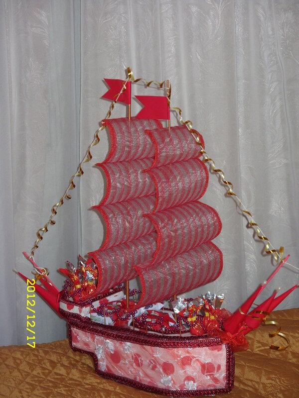 Корабли своими руками из гофрированной бумаги 907