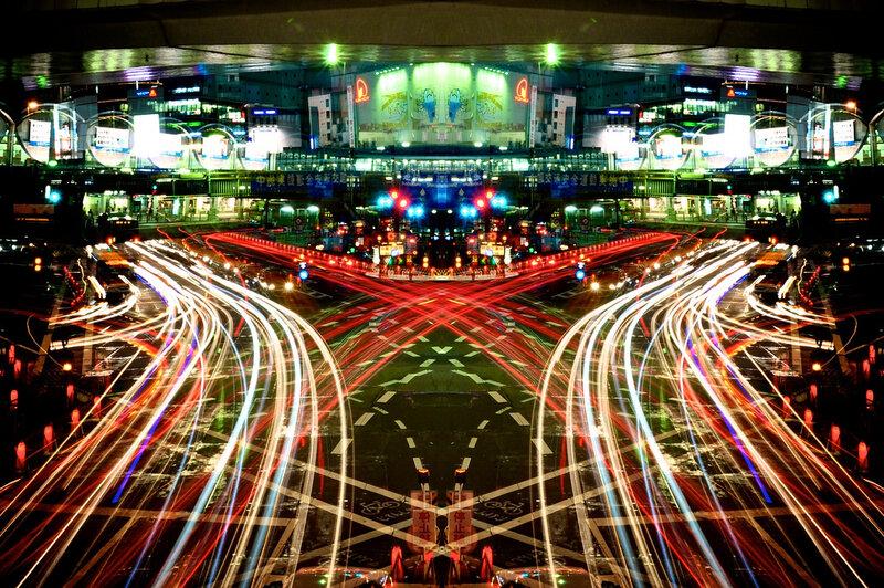 Токио, отражение симметрии