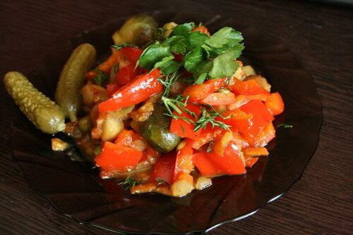 Тушеные овощи с уксусом